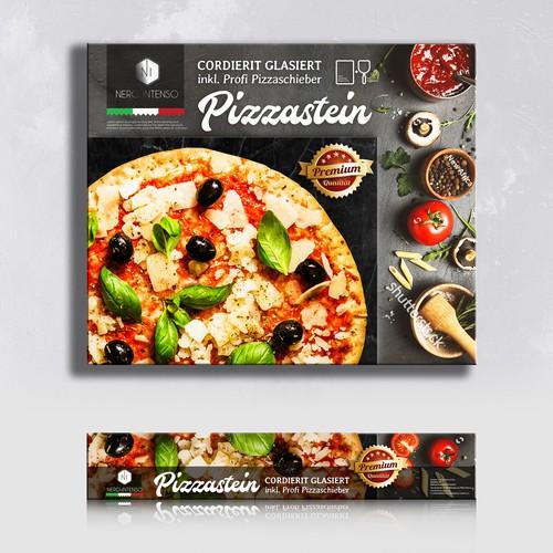 Tomato design with the title 'Pizza stone'