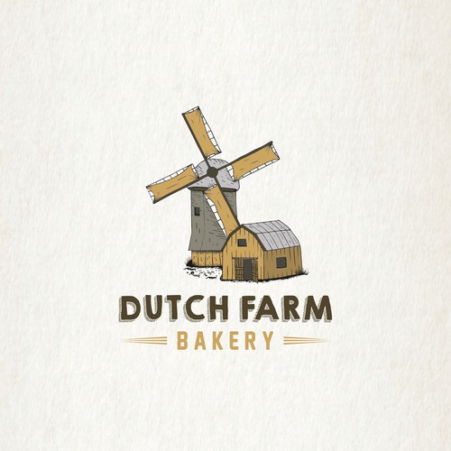 Windmill logo with the title 'Dutch Farm Bakery'
