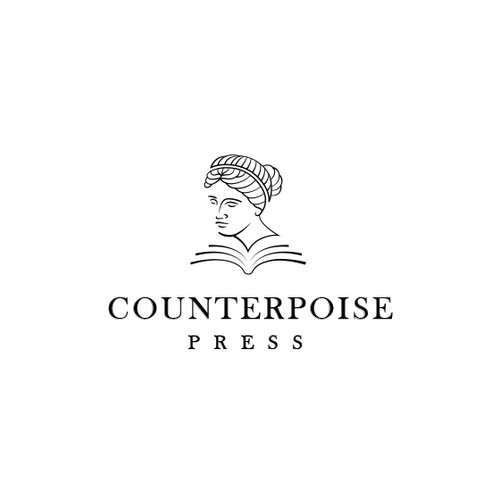 Press logo with the title 'Logo design for book publisher'