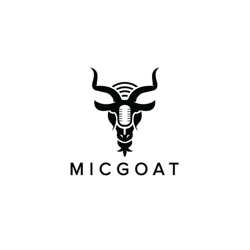 Microphone logo with the title 'Micgoat'