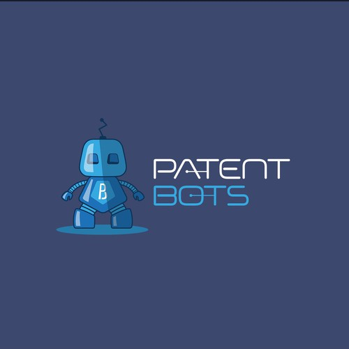 Mechanical logo with the title 'PATENT BOTS'
