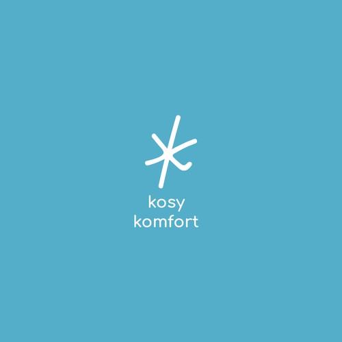 Comfort logo with the title 'Logo concept for Kosy Komfort socks'