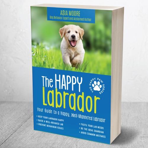 Labrador design with the title 'The Happy Labrador'
