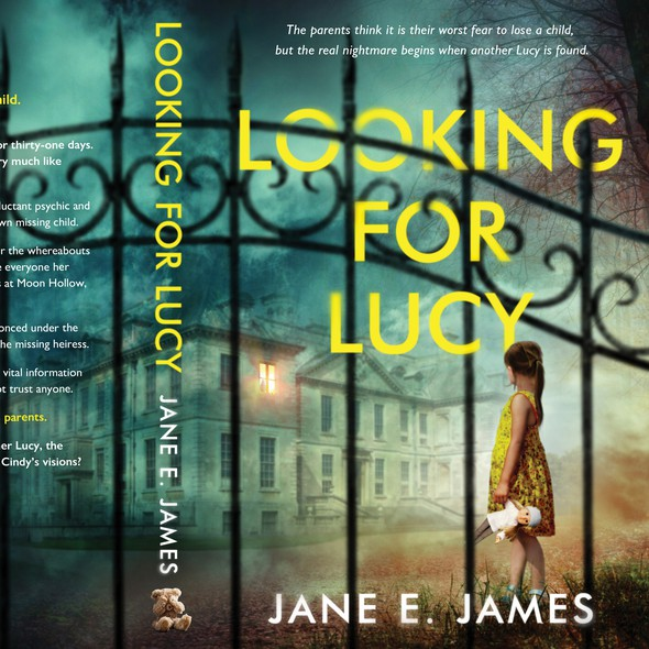 Little girl design with the title 'Looking for Lucy'