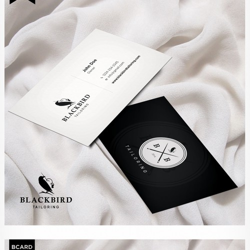 Hipster design with the title 'Logo Design for Blackbird Tailoring & Design'
