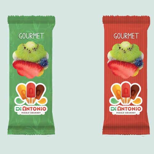 Gourmet packaging with the title 'Packaging Ice Cream '