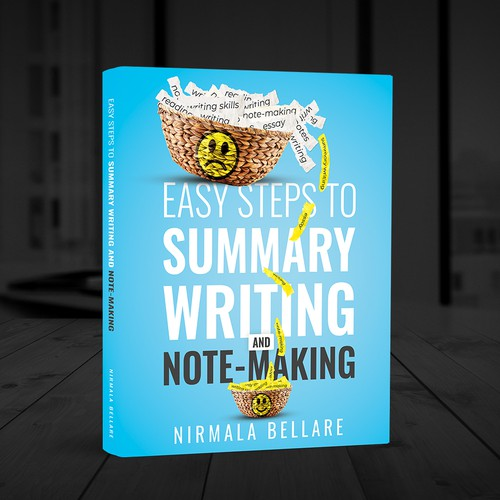 Writing design with the title 'Easy Steps to Summary Writing and Note-Making'
