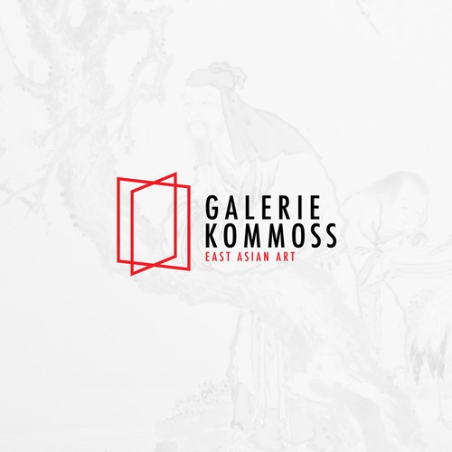 History design with the title 'Galerie Kommoss [Logo Update]'