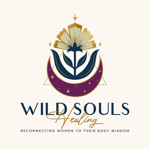 Spiritual logo with the title 'Logo for Wild souls healing'