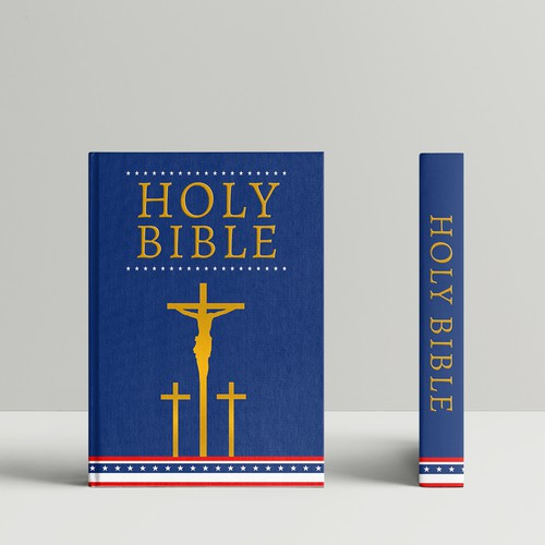 Bible book cover with the title 'book cover design'