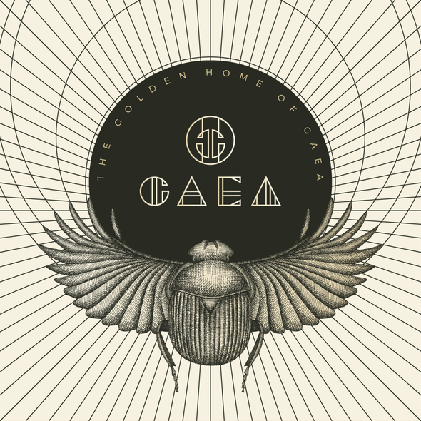 Scarab design with the title 'Logo and branding elements for a high end fashion house.'
