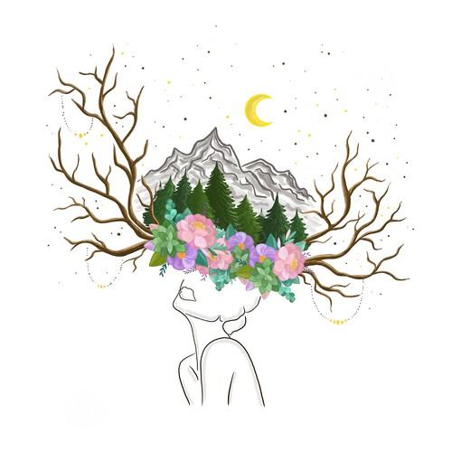Travel illustration with the title 'Boho Style Illustration'
