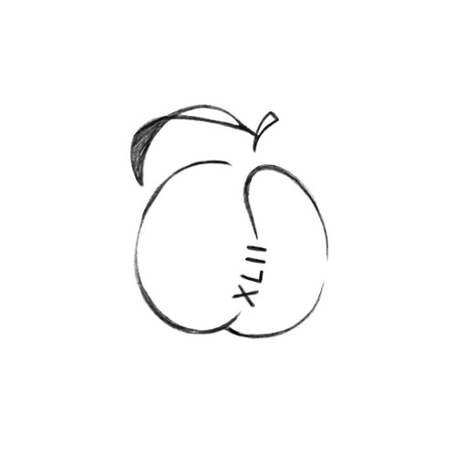 Peach design with the title 'Small Peach Tattoo'