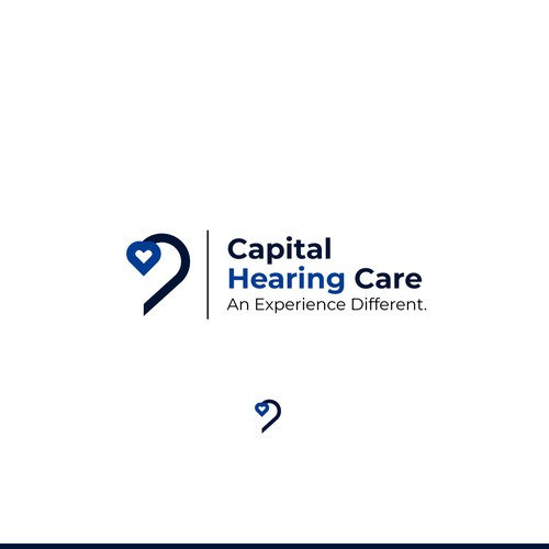 Ear design with the title 'Capital Hearing Logo design'