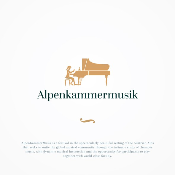 Classical design with the title 'Alpenkammermusik'