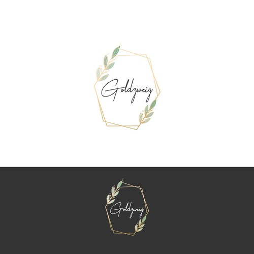 Wreath design with the title 'Logo for a wedding accessories brand'