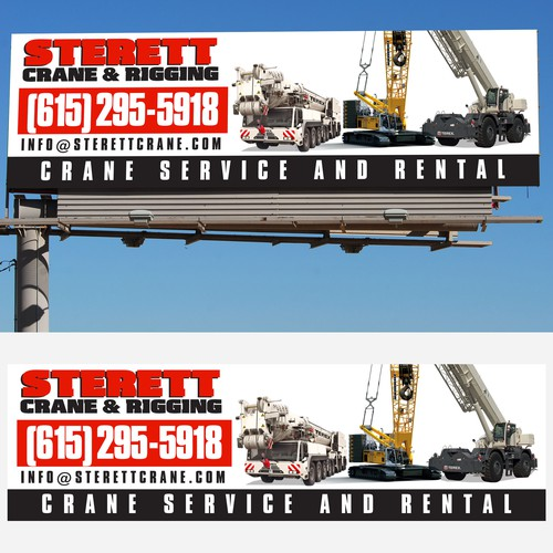 Crane design with the title 'Create eye catching BILLBOARD design'