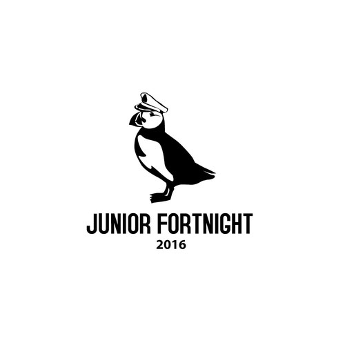 Puffin design with the title 'Junior Fortnight 2016'