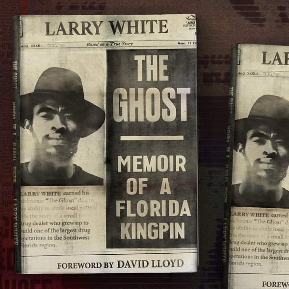 Biography design with the title 'The Ghost'
