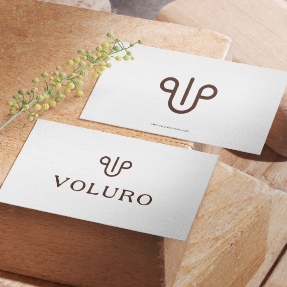 Luxurious logo with the title 'VOLURO'