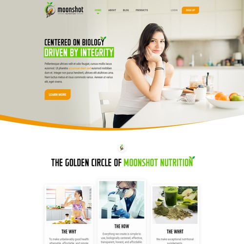Fitness website with the title 'creative design'