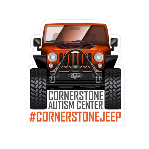 Off-road design with the title 'Logo for Sponsored Jeep'