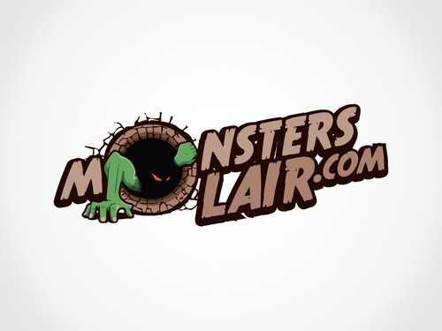 Brown logo with the title 'New logo wanted for monsterslair.com'