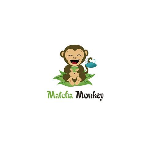 Matcha logo with the title 'Matcha monkey '