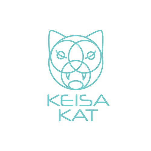 House music logo with the title 'Keisa Kat Logo'