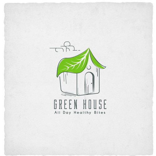 Organic food logo with the title 'Cute Creative Logo for Green House'