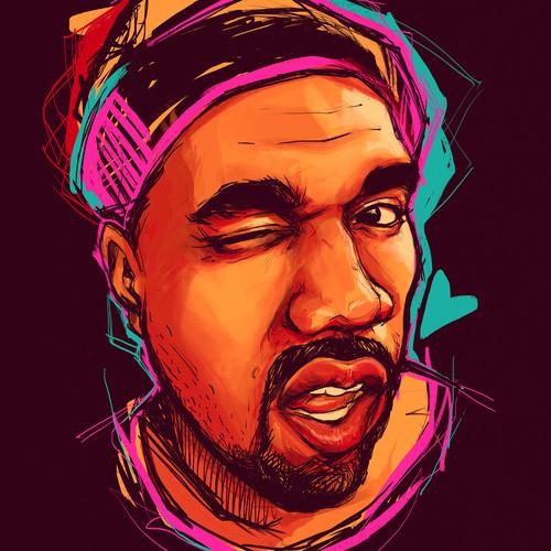 Star illustration with the title 'Kanye loves Kanye'