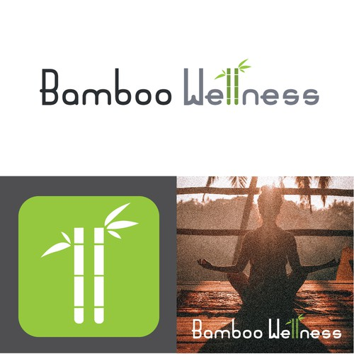 Esthetic design with the title 'Bamboo Wellness'