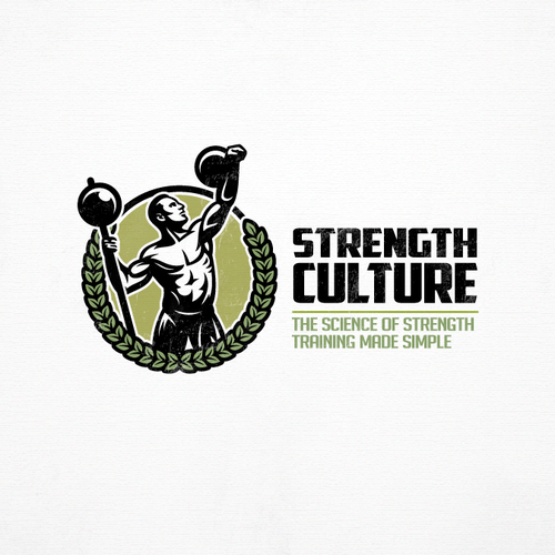 Athlete logo with the title 'Strongman '