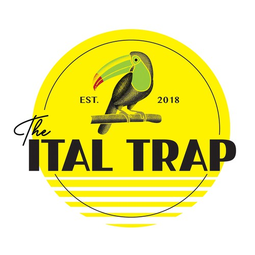 Young adult logo with the title 'the Ital Trap'