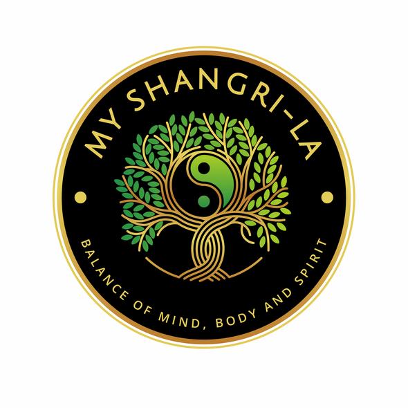 Reiki design with the title 'My Shangri-La'