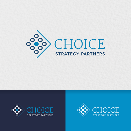Partner logo with the title 'Consulting firm logo design'