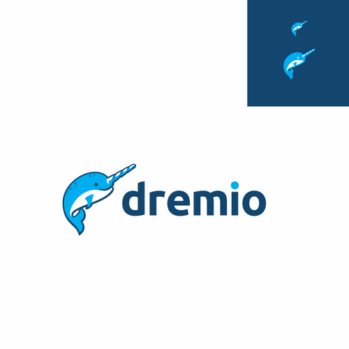 Cute animal design with the title 'Dremio Logo - a startup in the big data space'