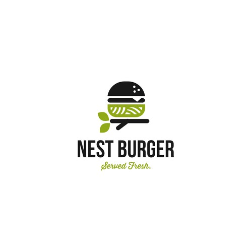 Nest design with the title 'logo for burger store'