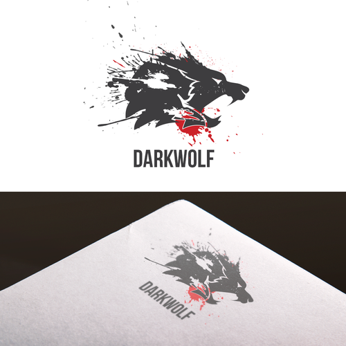 Fight design with the title 'Brand logo concept for Dark Wolf'