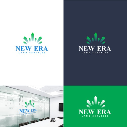 Renewable energy logo with the title 'New Era land services'