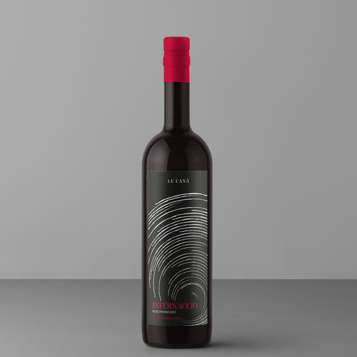 Hell design with the title 'Wine Packaging - Infernaccio'
