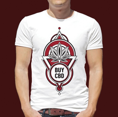 Geometric t-shirt with the title 'iCBD T-Shirt design'