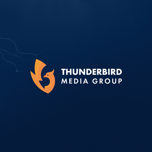 Media logo with the title 'Thunderbird Logo'