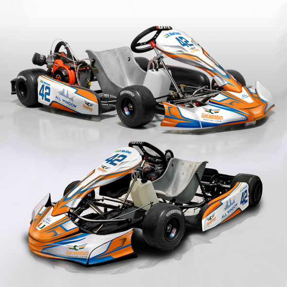 Vinyl wrap design with the title 'Racing Kart wrap design'