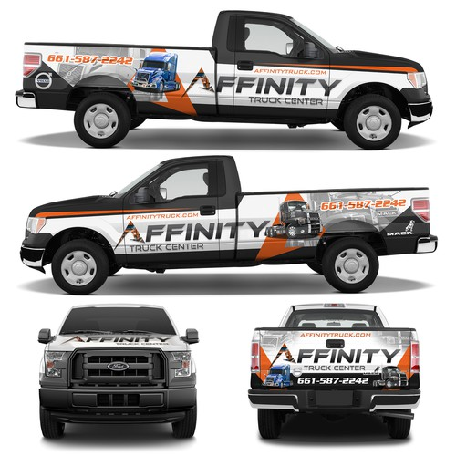 Trucking design with the title 'Truck Wrap for Affinity Truck Center'