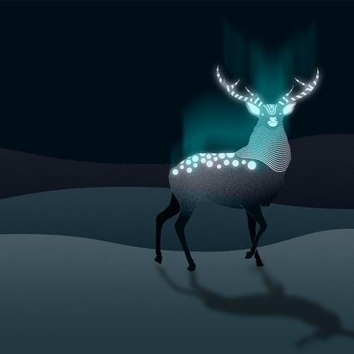 Deer illustration with the title 'Illustration'