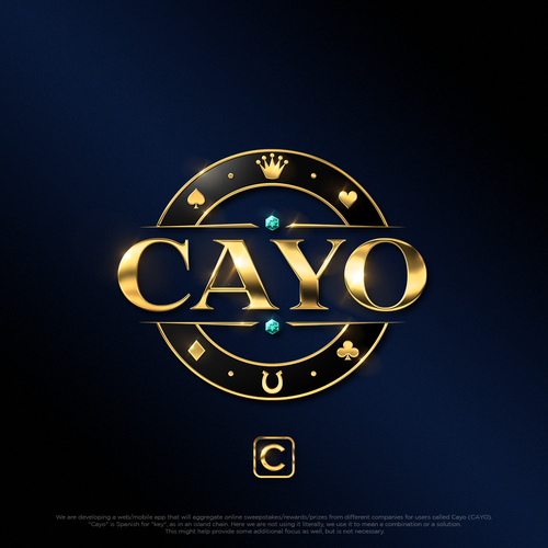 Diamond logo with the title 'Logo design for Cayo'