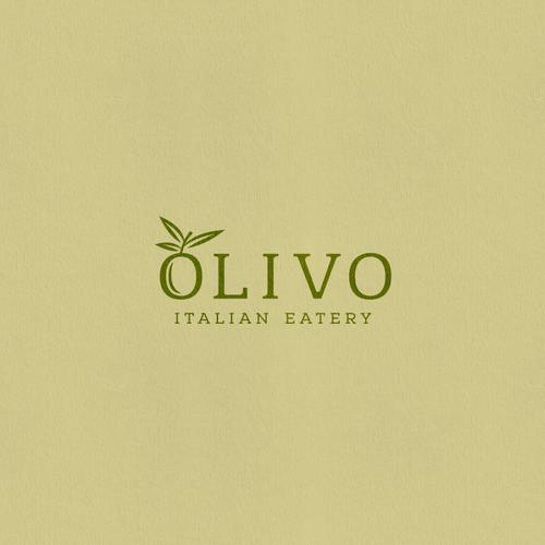 Olive logo with the title 'Olivio Logo Design'