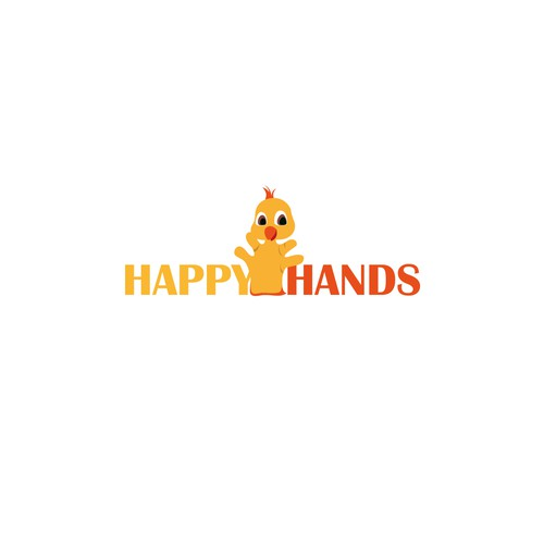Glove logo with the title 'Happy Hands'