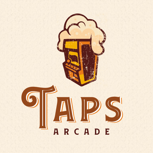 Arcade logo with the title 'Taps Arcade'